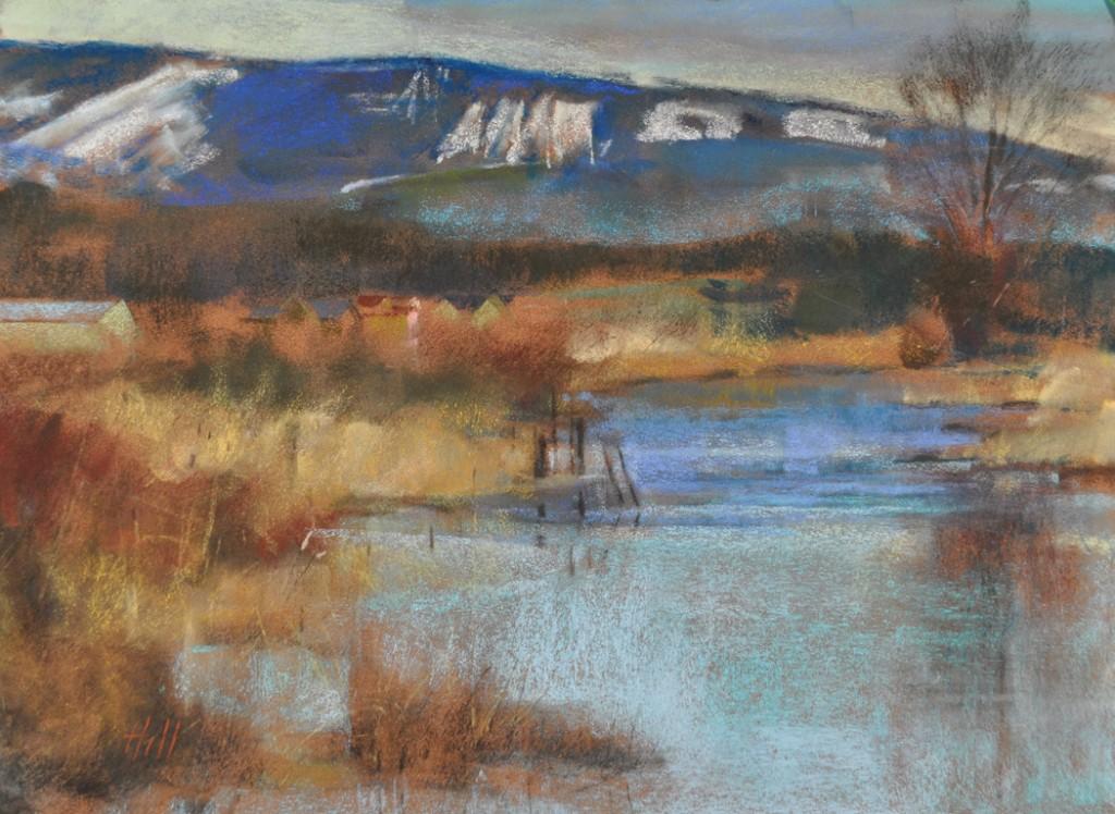 Edison Slough in Winter
