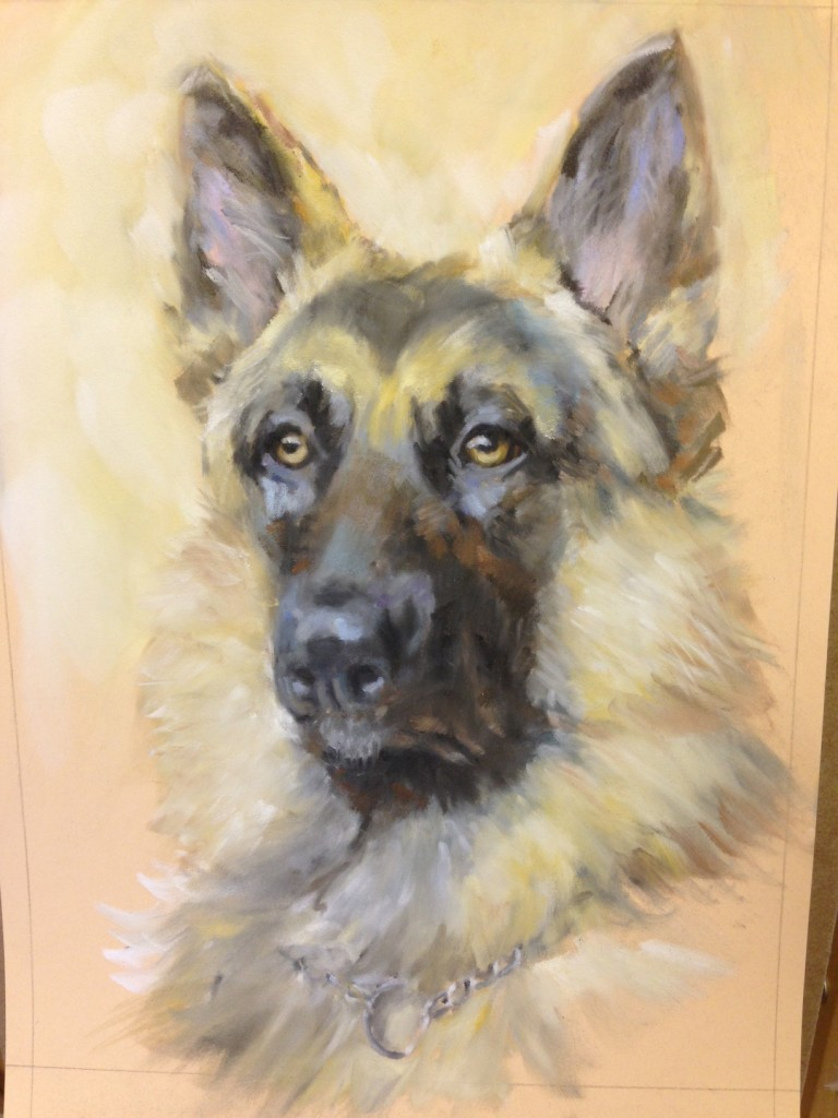 Step By Step German Shepherd Paint Draw Blend
