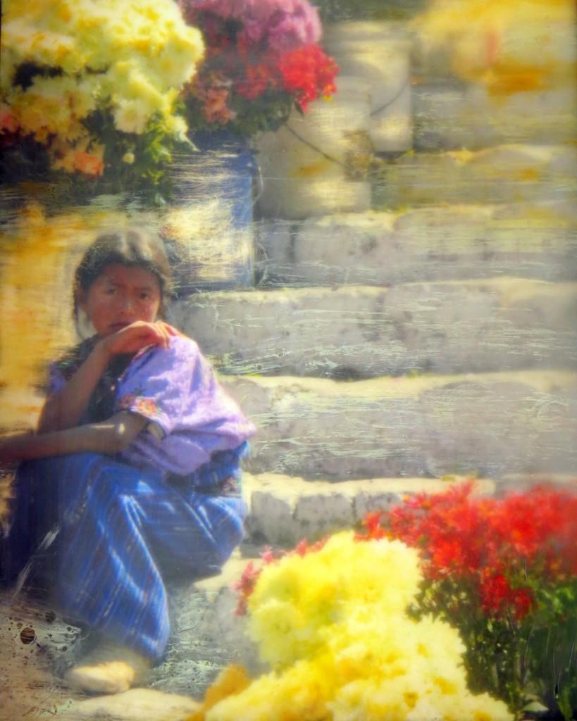 Shary Bartlett Flower Seller, Chichicastenango Cathedral, Guatemala