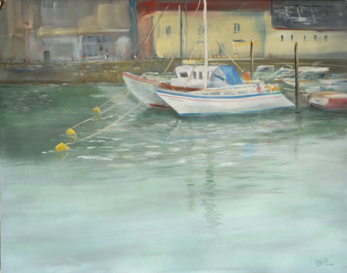 Pan Pastel Grey Pastel Board  Padstow Harbour 2015