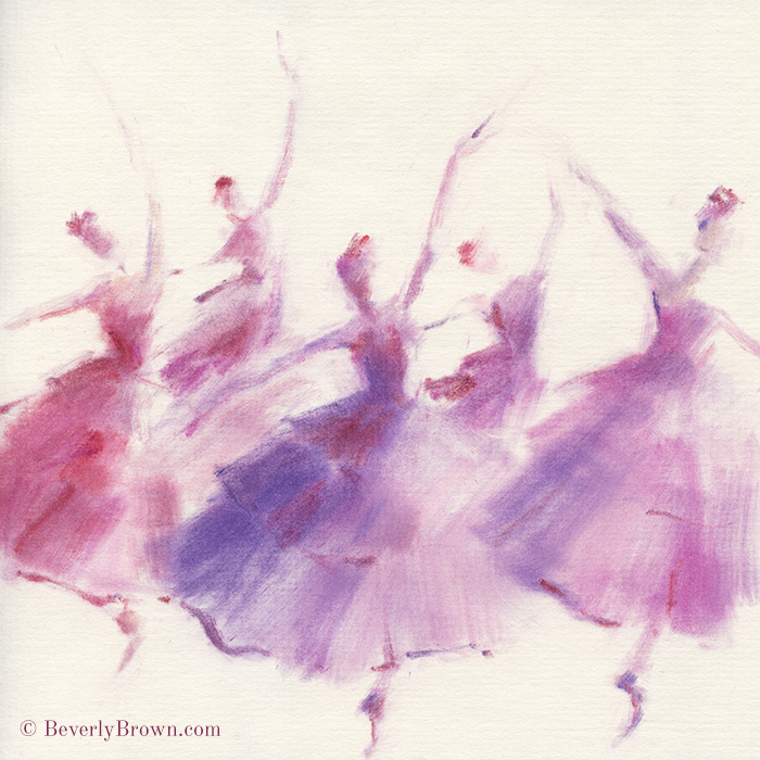 An ethereal pastel painting inspired by the Waltz of the Flowers from the Nutcracker.
