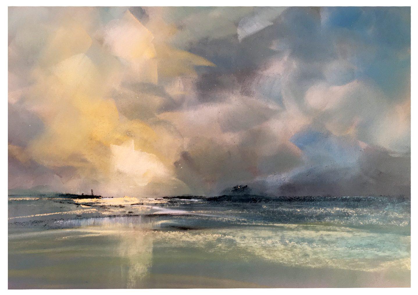 Cloudscape Painting Video Les Darlow Paint Draw Blend