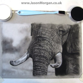 Elephant Painting - Jason Morgan