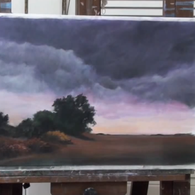 Full Painting Demo: Stormy Landscape