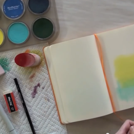 Dry Wash Color Technique - Journal
